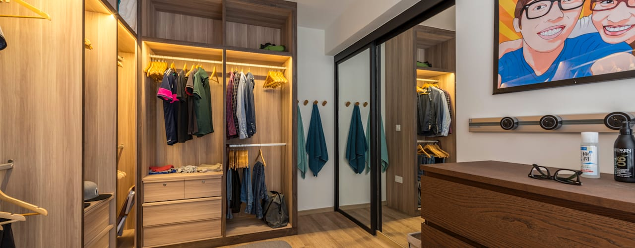 Industrial Touch Industrial style dressing room by Meter Square Pte Ltd Industrial
