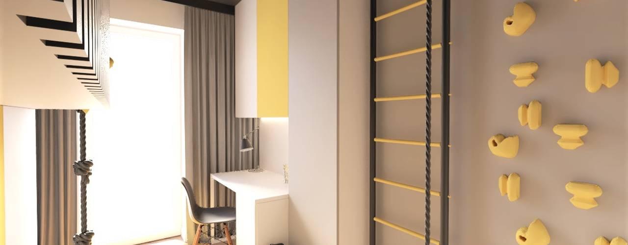 Pokój dla chłopca od Wkwadrat Architekt Wnętrz Toruń Minimalistyczny