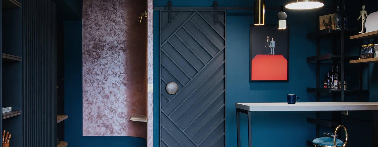 漢玥室內設計 Minimalist corridor, hallway & stairs Multicolored