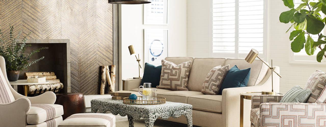 Cozy Winter Sunbrella Modern living room