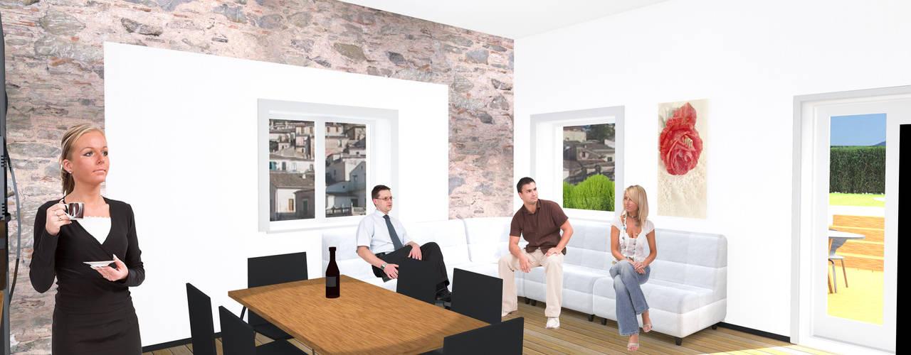 Casa nel Centro Storico con Piscina Sala da pranzo minimalista di antonio felicetti architettura & interior design Minimalista