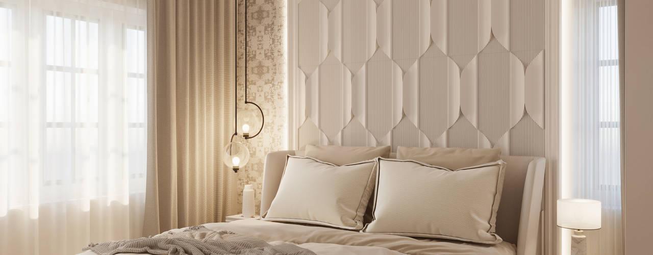Prestige De Ja Vu, Pulikeshi Nagar, Bengaluru. De Panache Small bedroom Plywood Beige