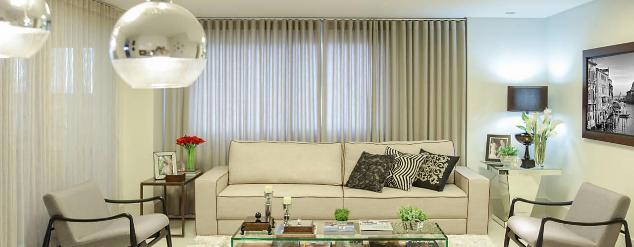 Sala de estar Integrada com Jantar Salas de estar modernas por Rubiana teixeira Barbosa ME Moderno