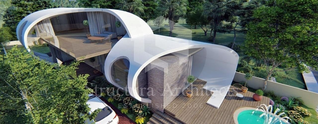 Retro-Futuristic Home by Structura Architects Modern