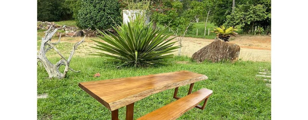 BANCOS LONGOS EM MADEIRA por Camacã Design em Madeira Rústico
