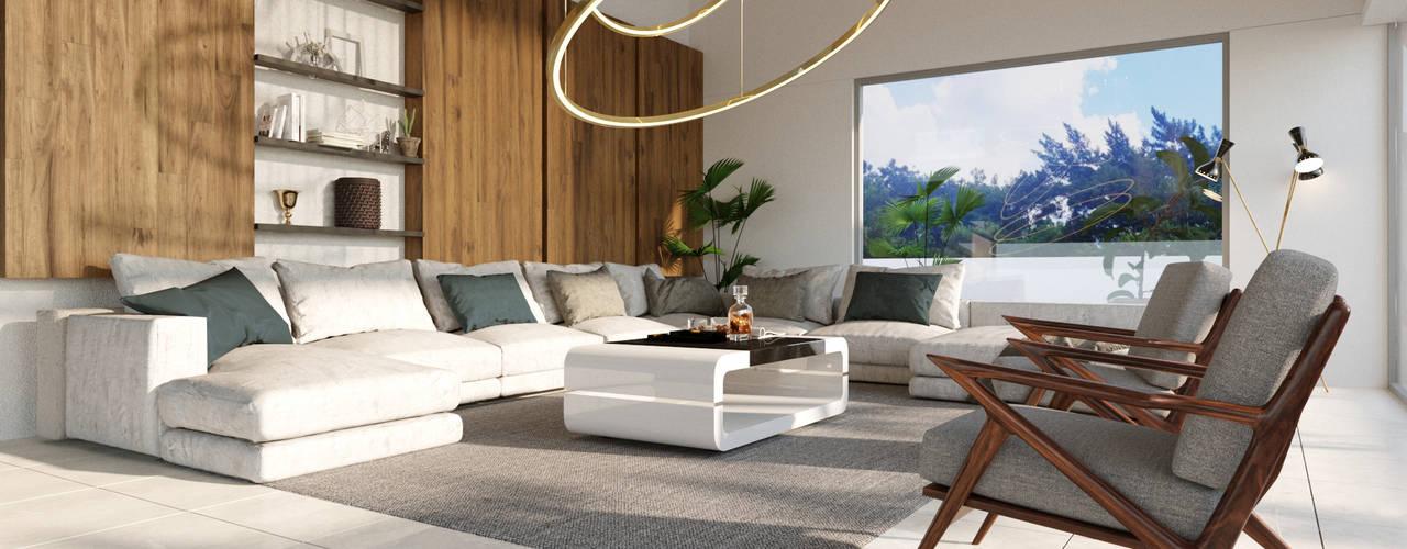 Interiorismo Casa RS Salones modernos de AMÁNDALA PERUSQUÍA Moderno