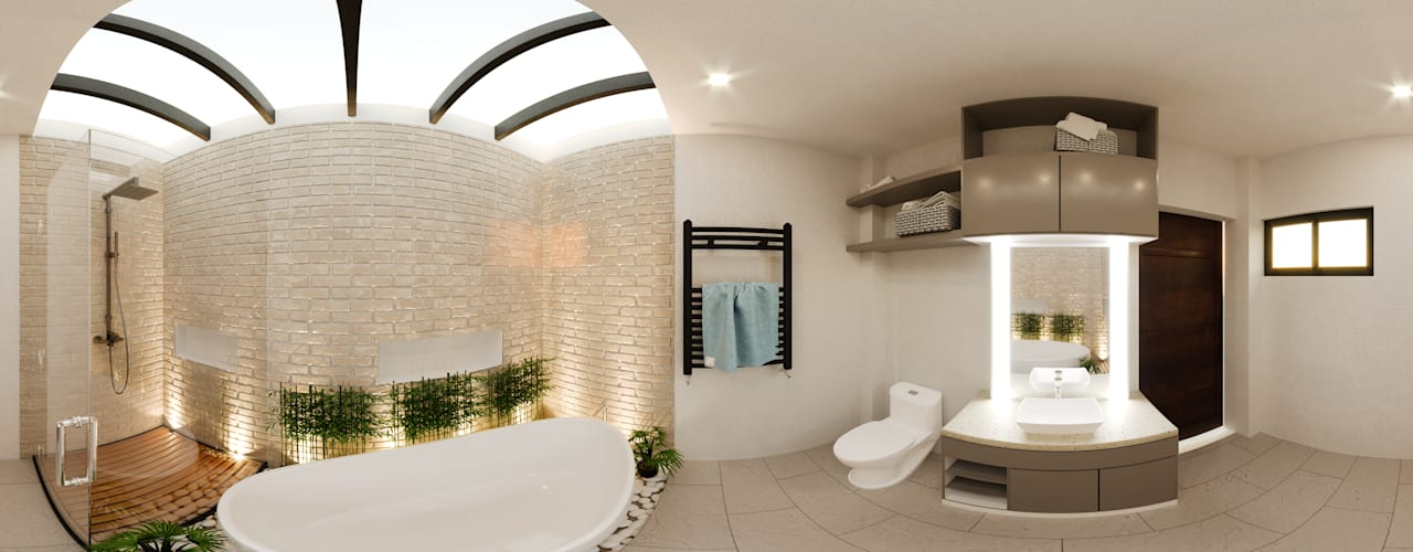Toilet and Bath Modern bathroom by Kenchiku 2600 Architectural Design Services Modern