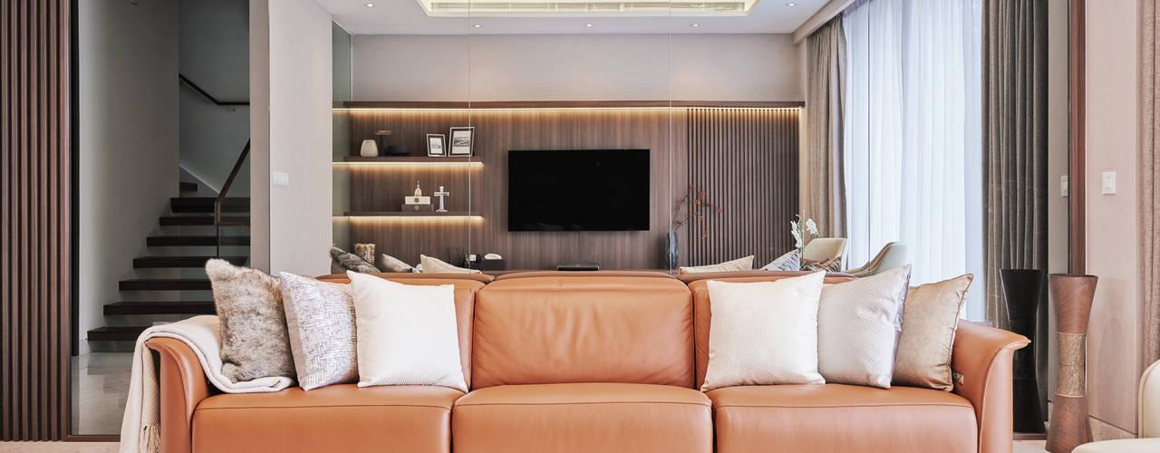 Landed - Cayman Residence Modern living room by Mr Shopper Studio Pte Ltd Modern