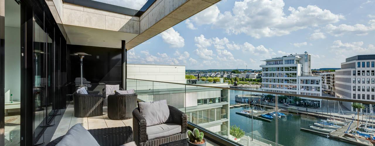Penthouse Phoenixsee finest art of living / Lydia Wegner interiordesign Balkon
