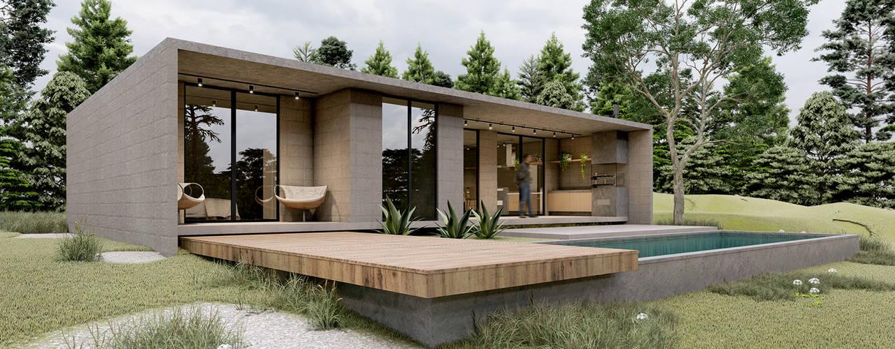 Casa Beton Casas minimalistas por Paulo Stocco Arquiteto Minimalista