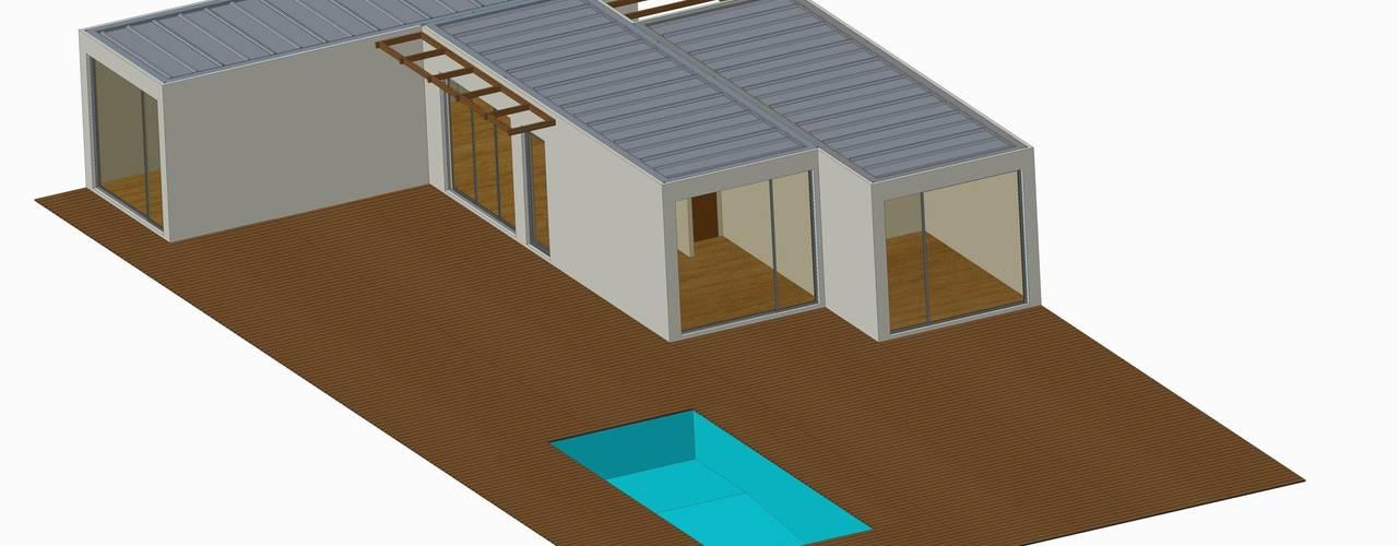 BLOC Linea T2 Area 72m2 (76m2-bruta) BLOC - Casas Modulares Piscinas de jardim