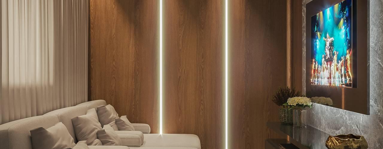 Apartamento | FL - Piso Superior Camila Pimenta | Arquitetura + Interiores Eletrônicos Madeira Bege