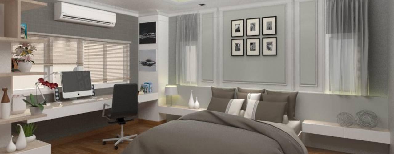 K. Cherry's House - 3D Interior Design Project (The Centro Rattanathibet): ผสมผสาน  โดย Valdus Conception Co., Ltd., ผสมผสาน