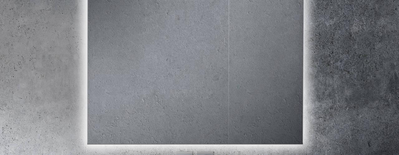 KHAN LISO - LUZ LED PERIMETRAL Xpertials SL Baños de estilo moderno Vidrio