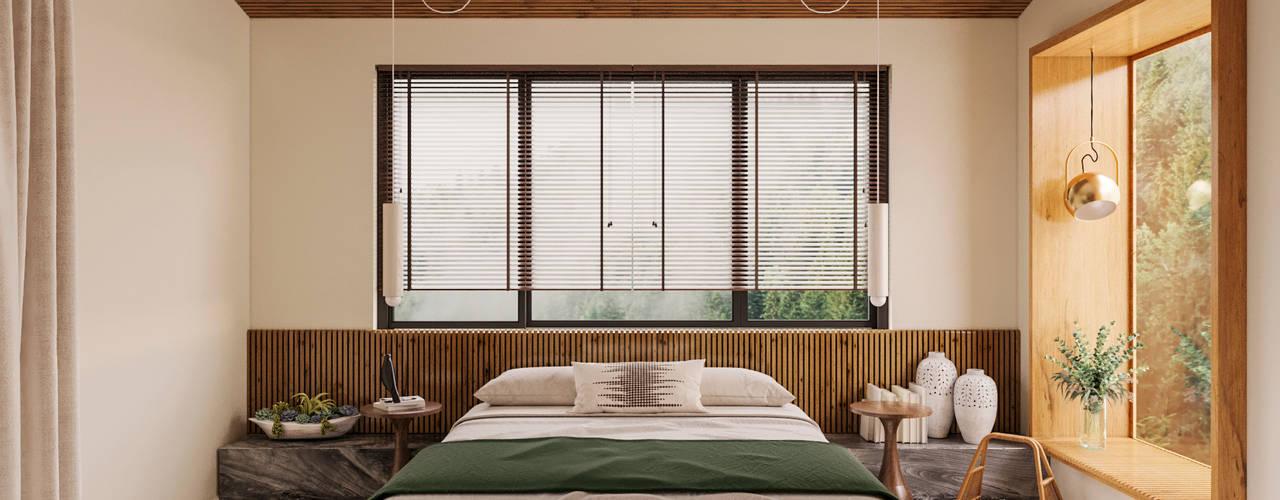Thiết kế nội thất phong cách Rustic cho biệt thự Dương Nội: mộc mạc  by Kiến Trúc và Nội thất V.Scale, Mộc mạc