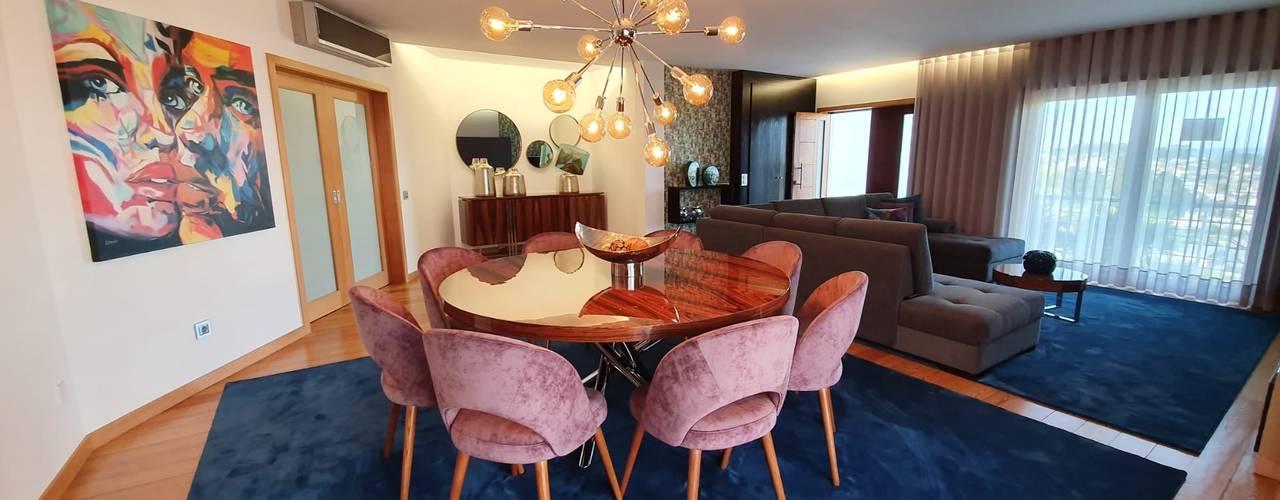 Projeto de Decoração Integral - Salas de Estar e Jantar por Versatilis Inovação Design