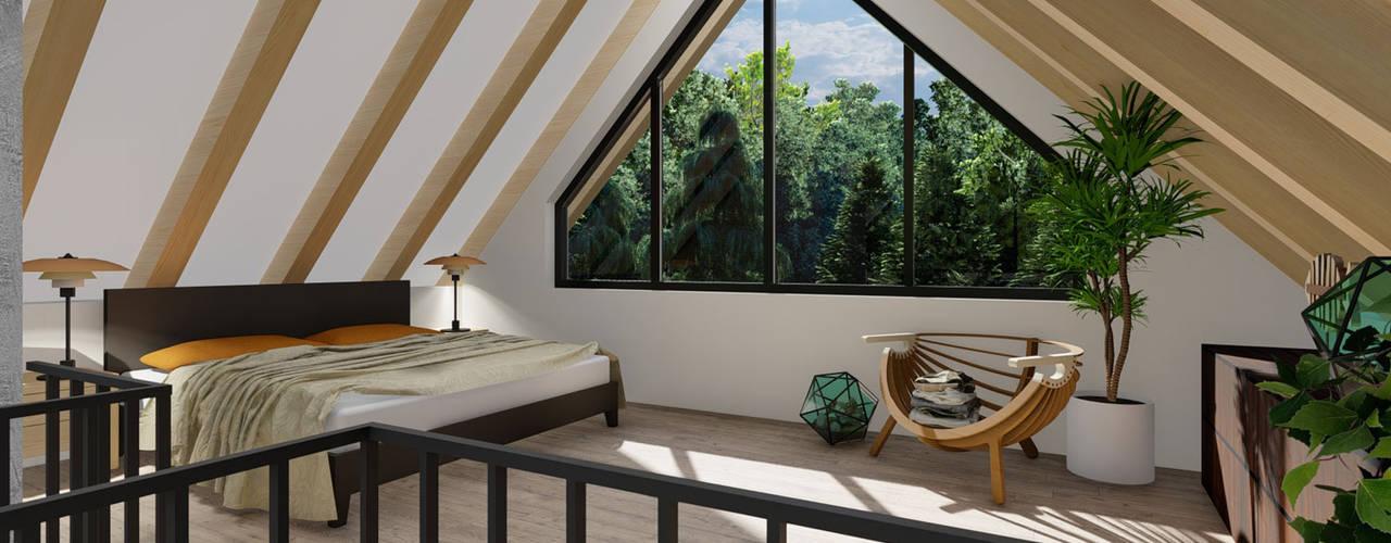 """""""Altes Häuschen"""" - Umbau - Innenarchitektur - Visualisierung Moderne Schlafzimmer von MITKO DESIGN Modern"""