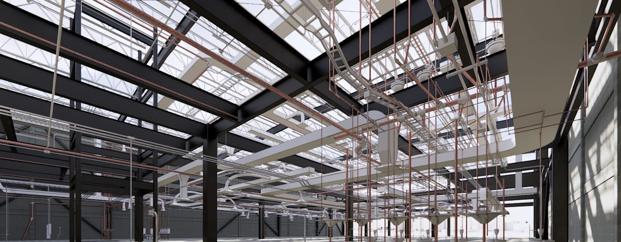 NAVE FARGO Estudios y despachos industriales de ConstruTech & Technology BIM Industrial