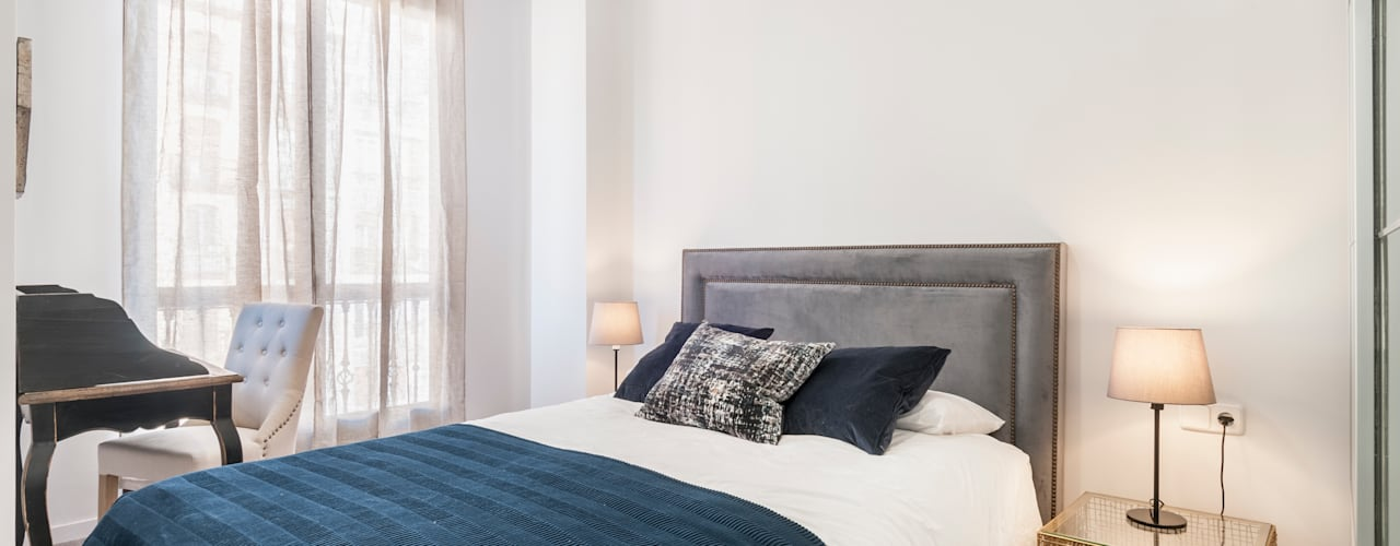 Reforma integral e interiorismo en Avenida de Brasilia (Madrid) ALTIA Dormitorios de estilo moderno