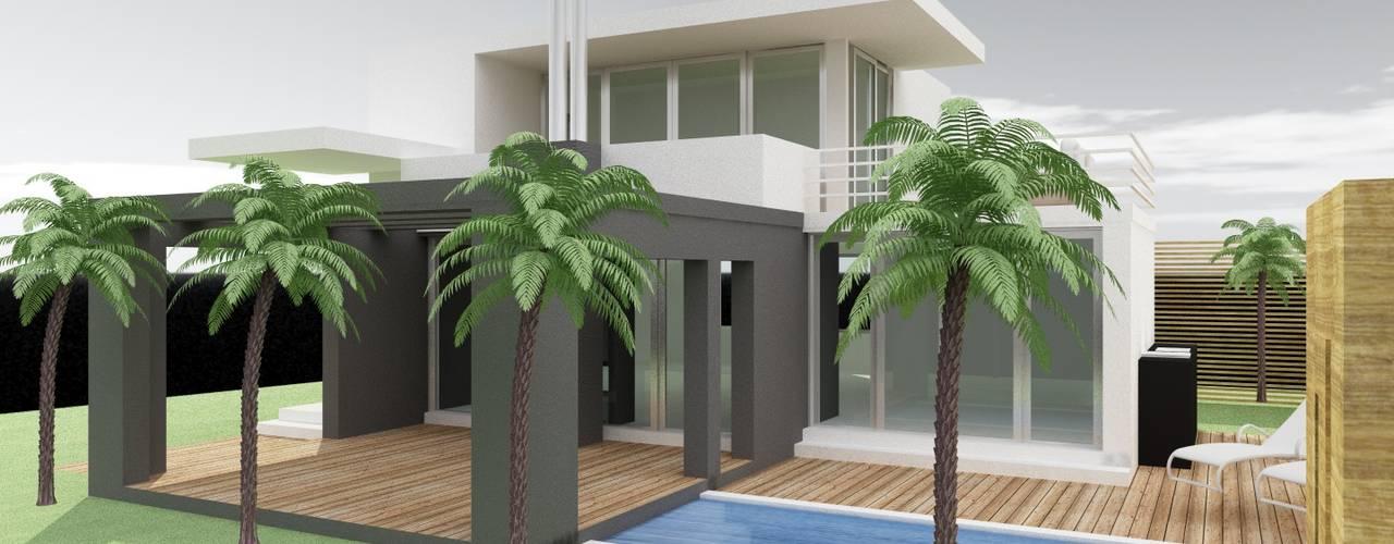 Villa's met zwembad van MEF Architect Modern