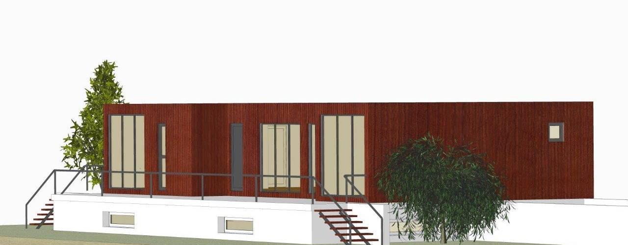 Modelo BLOC Family T2 | 120 m2 área coberta BLOC - Casas Modulares Casas unifamilares