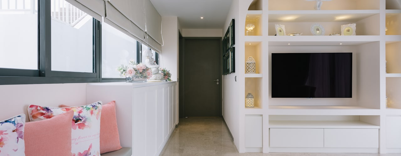 RiverSail Penthouse Mr Shopper Studio Pte Ltd Classic style corridor, hallway and stairs