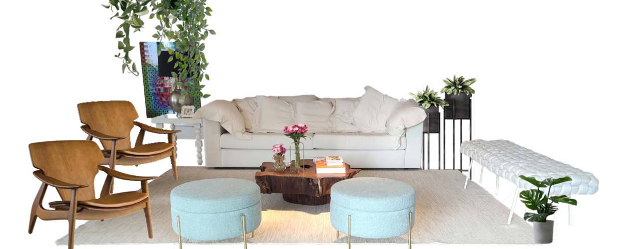 Consultoria Decoração - Salas de estar, tv e varanda moderna e aconchegante Salas de estar modernas por Mirá Arquitetura Moderno