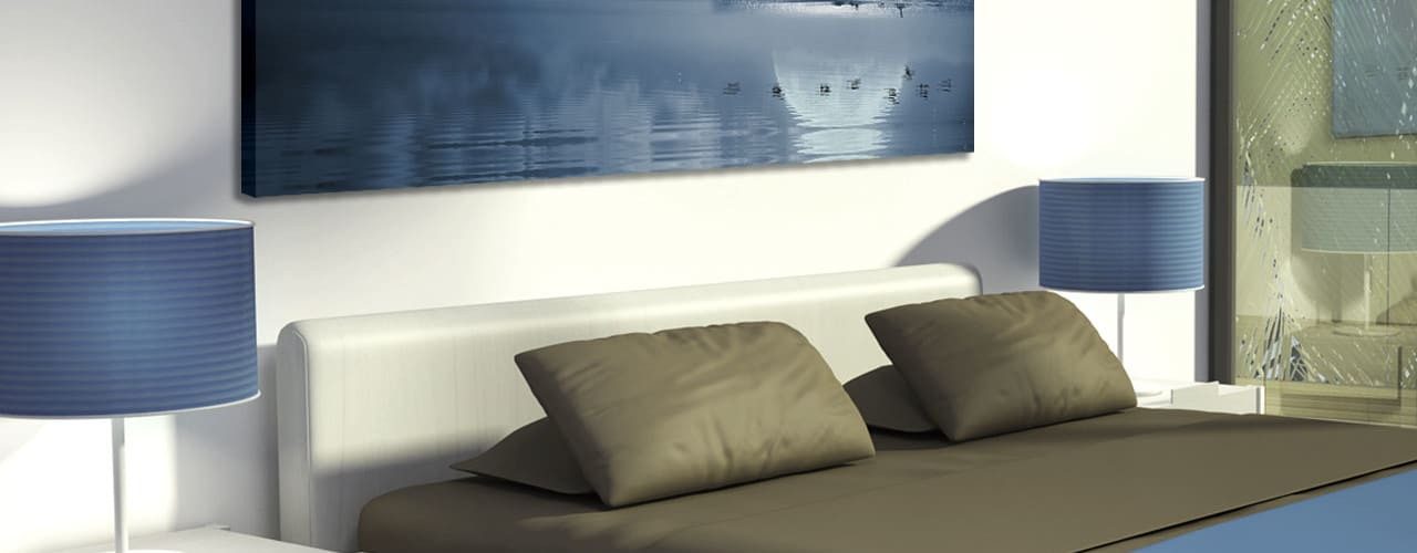 Stampe su tela Camera da letto moderna di INTERNI & DECORI Moderno