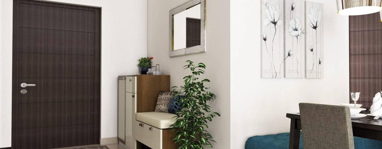 الممر الحديث، المدخل و الدرج من Lydia Design Studio حداثي