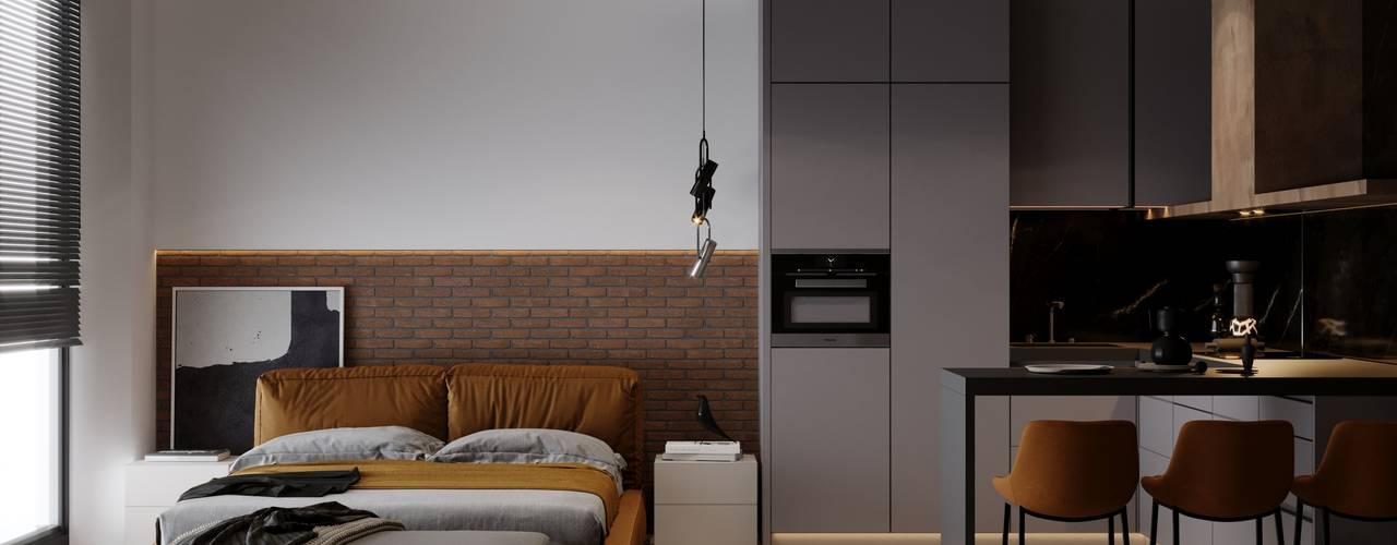 LOFTEC CONCEPT 724 Спальня в стиле лофт от Studio DA Лофт
