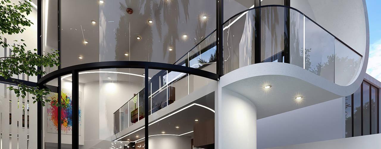 Casa Loera - Arquitectura Organica Casas modernas de GLE Arquitectura Moderno