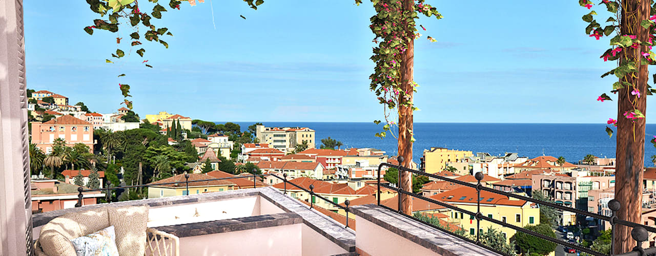 Complesso Le Terrazze SGA srl Balcone, Veranda & Terrazza in stile mediterraneo