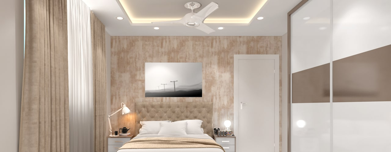3BHK Interior Design - 1700 sqft by Enrich Interiors & Decors Modern