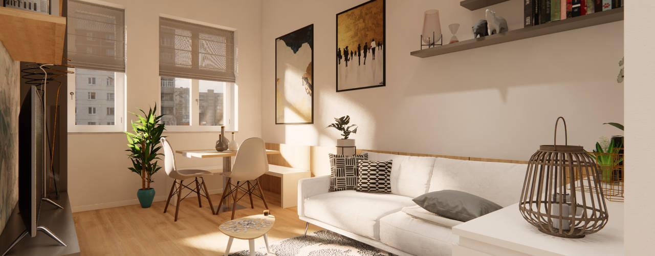 Appartamento FL Soggiorno moderno di Idea Design Factory Moderno