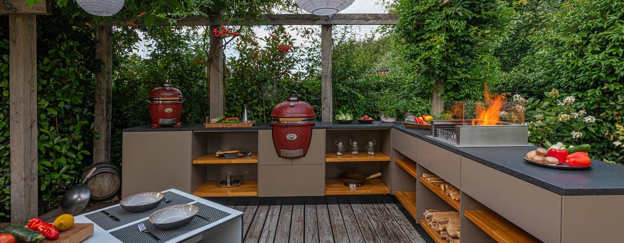 KEIN DACH NÖTIG Freiluftküche   the real outdoor kitchen Balkon, Veranda & TerrasseMöbel