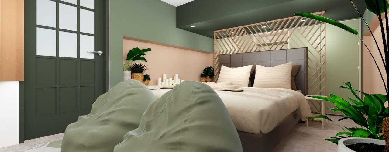 RM Bedroom Project Quadraforma Construction Small bedroom Green