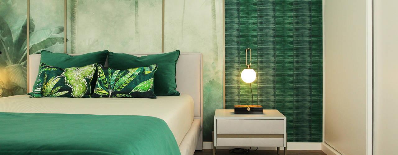 Moradia nos Açores Glim - Design de Interiores QuartoCamas e cabeceiras