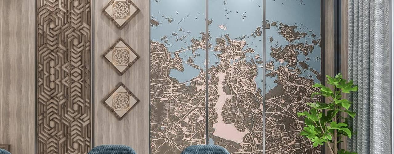 كاسل للإستشارات الهندسية وأعمال الديكور والتشطيبات العامة Paredes y pisos de estilo mediterráneo Cuarzo Azul