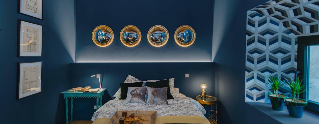 AMBIENTE BRITISH!! Reforma de piso en Toledo. 05 Estudio Dormitorios de estilo ecléctico
