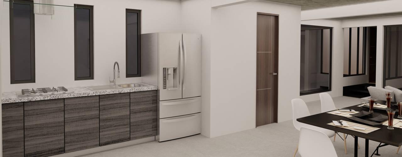 MT-GI STRATEGIC SERVICES Small kitchens Concrete Grey