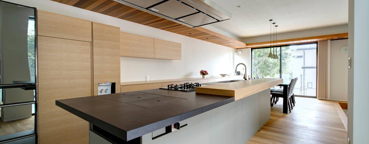 眺望に伸びる家 TERAJIMA ARCHITECTS/テラジマアーキテクツ システムキッチン