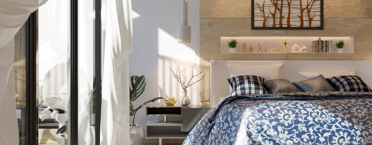 𝗣𝗥𝗢𝗬𝗘𝗖𝗧𝗢 𝗡° 𝟴𝟬𝟮 ''𝗖𝗟𝗜𝗙𝗙 𝗛𝗢𝗨𝗦𝗘'' ivvarquitectos Dormitorios de estilo minimalista