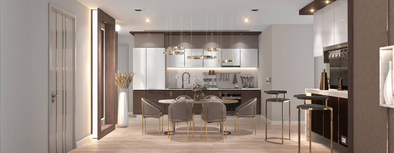 Magnolias Waterfront Residences@ Icon Siam Modernize Design + Turnkey ครัวบิลท์อิน Grey