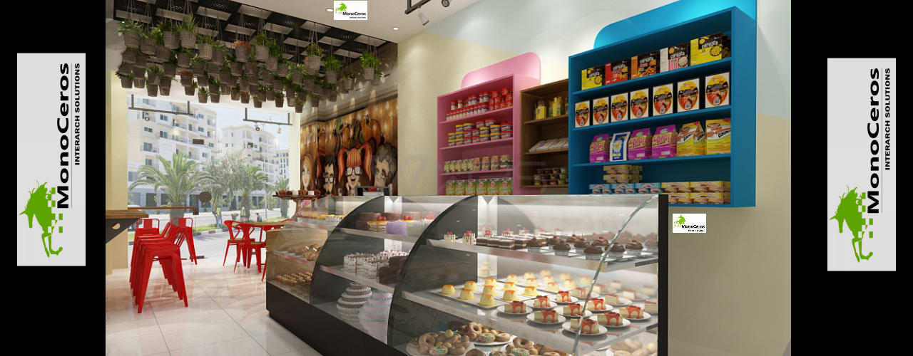 Bakery Outlet Interior Work Monoceros Interarch Solutions Modern offices & stores
