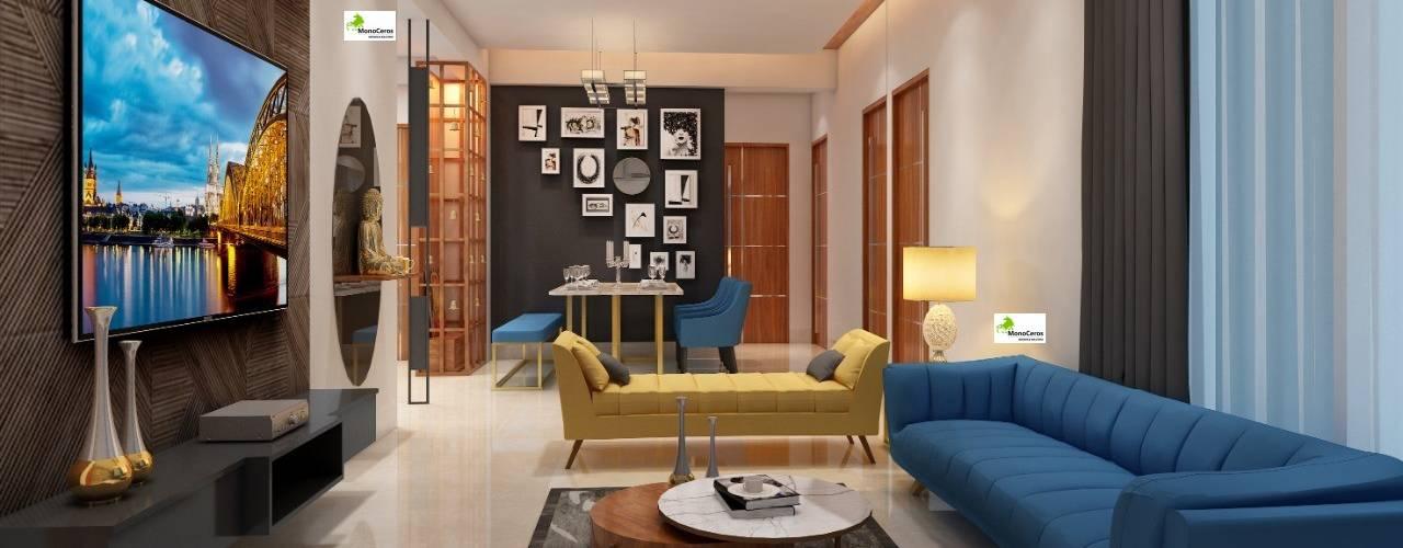 Flat Interior work Monoceros Interarch Solutions Modern living room