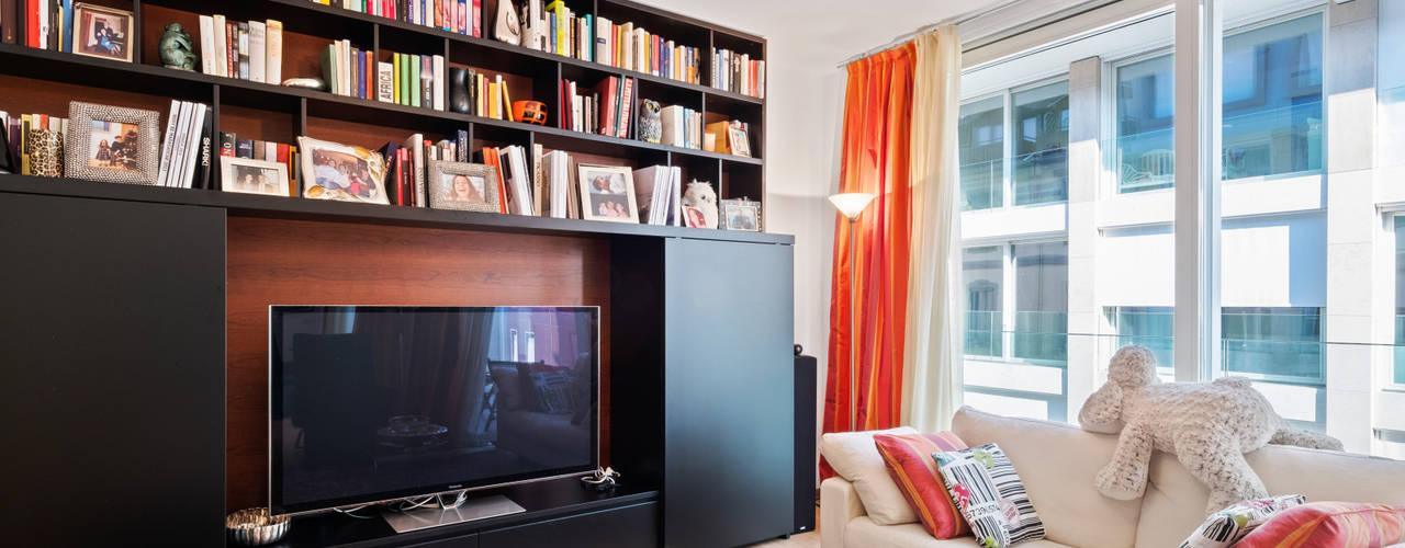GZ Nuovo appartamento 120 mq Filippo Zuliani Architetto Soggiorno moderno Legno Bianco