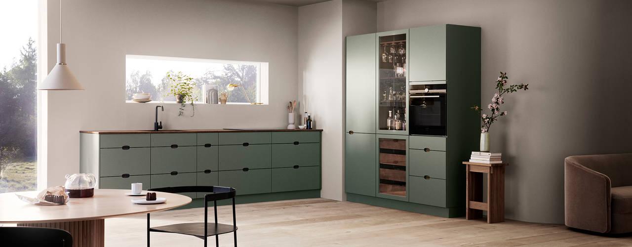 Ombra: una cocina verde por dentro y por fuera de Kvik España Escandinavo