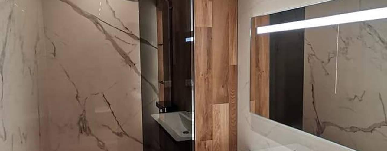 Reforma integral de baño David Mateos García Baños de estilo moderno Cerámico Marrón