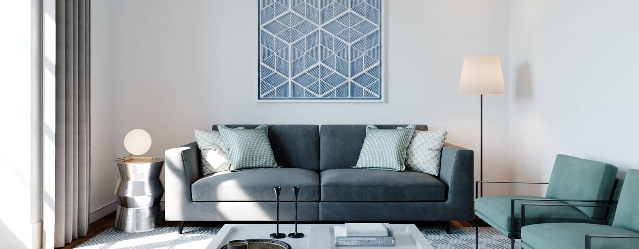 R. Prata Apartment ATMOSFERAS_ Interior Design Salas de estar minimalistas