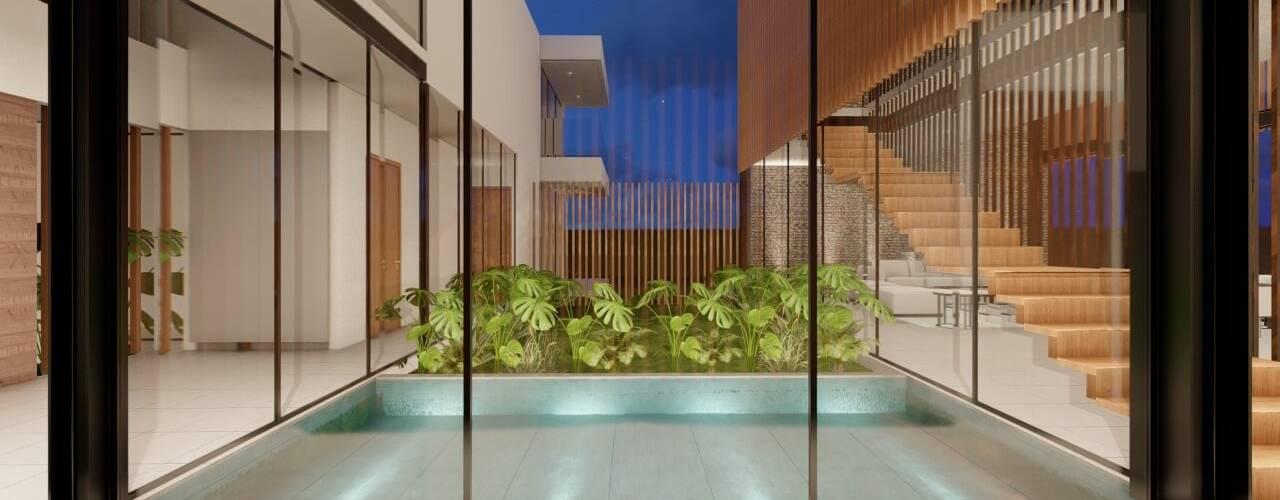 Casa Campestre Condominio en Jamundi - Valle DeCasas.co Pasillos, vestíbulos y escaleras de estilo moderno
